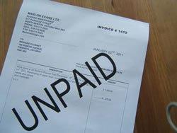 unpaid invoices, chasing debtors