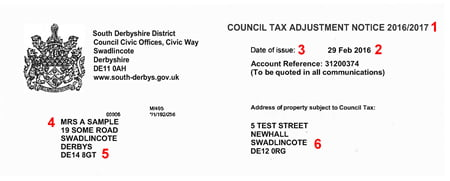 A council tax adjustment bill