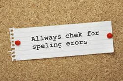 poor grammar and spelling is just one thing to look out for